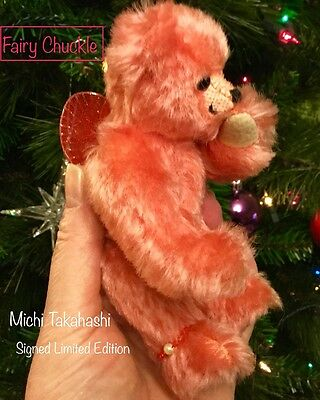 Fabulous Fairy Chuckles Artist Bear, signed, numbered Rare Limited Edition