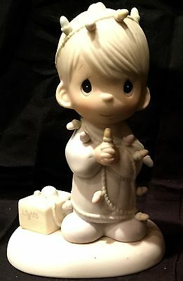 """Precious Moments """"May Your Christmas be Delightful""""  Boy Figurine"""
