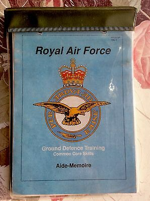 Vintage 1990's Royal Air Force ~ Ground Defence Training Aide Memoire ~ RAF