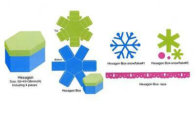 Hexagonal box die - for use in most cutting systems