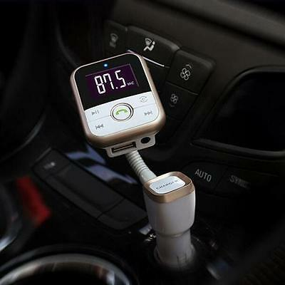 LCD Car Bluetooth MP3 Player SD USB Remote FM Transmitter Modulator For Phone