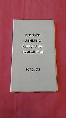 Bedford Athletic 1972-73 Rugby Membership Card