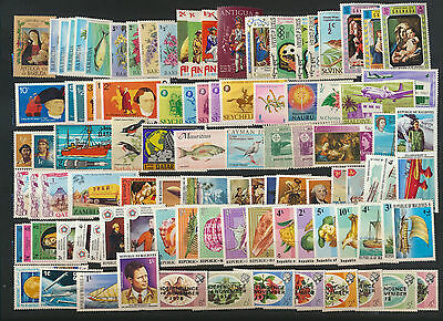 British Colonial Mint NH Collection 100 Different Colorful Topical Stamps Lot111