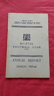 Bristol Rugby Club 1959-60 Annual Report