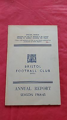 Bristol Rugby Club 1964-65 Annual Report