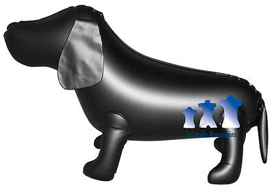 Inflatable Mannequin, Small Dog, Black