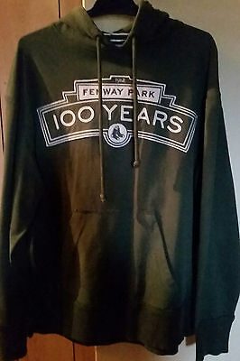 Boston Red Sox 100 Years Of Fenway Park Green Hoodie Size Adult Small