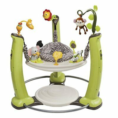 Evenflo ExerSaucer Jump & Learn Stationary Jumper Jungle Quest EUC in Box