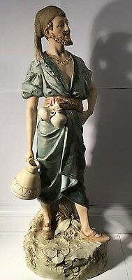 Royal Dux Bohemia figure of classical form carrying water/wine  pre 1918 (50cm)