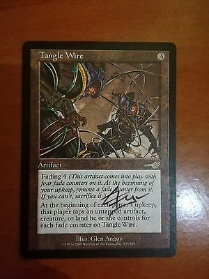 magic the gathering mtg Tangle Wire SIGNED, Mint x1