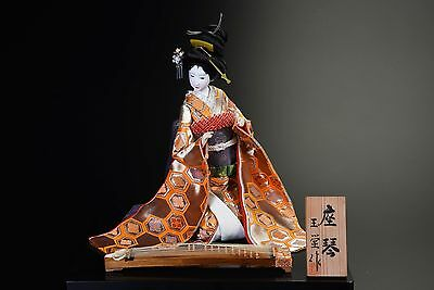 Japanese GEISHA Doll  -with a traditional guitar Koto  Doll-  Rare