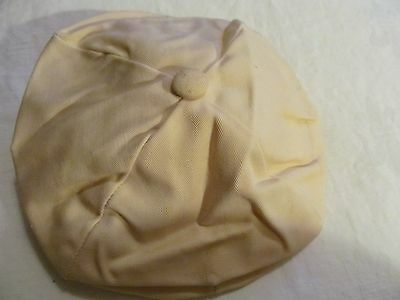 PEKETT Baby Boy / Doll Hat,Tan - .Cream cotton, line, old tag and label.9mo-2yr