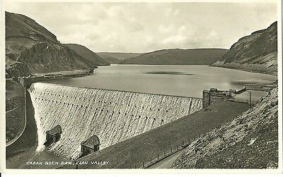 Elan Valley Caban Goch Dam C1960  Real Photo Postcard