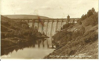 Rhayader Craig Coch Dam Elan Valley C1930 Judges Real Photo Postcard