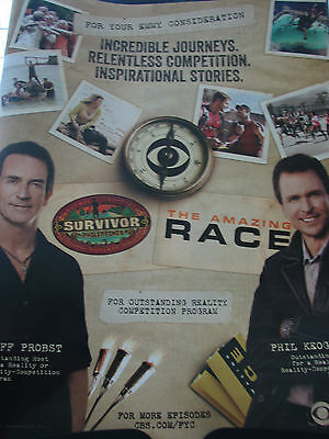 Amazing Race Survivor Jeff Probst  Phil Keoghan   EMMY AD   a