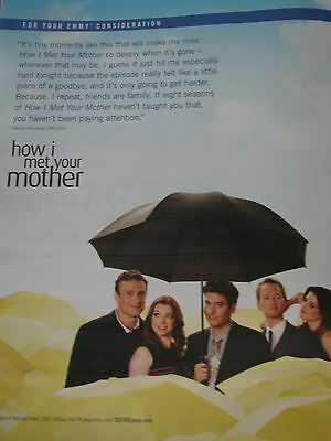 How I Met Your Mother Neil Patrick Harris + cast under umbrella   EMMY AD