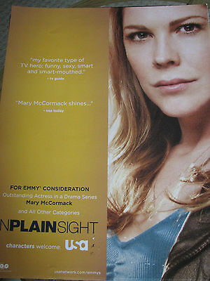 In Plain Sight Mary McCormack  RARE  EMMY AD a