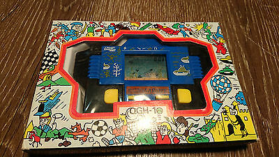 SUBMARINE 1980's VINTAGE POCKET / HAND HELD LCD GAME - & WATCH -