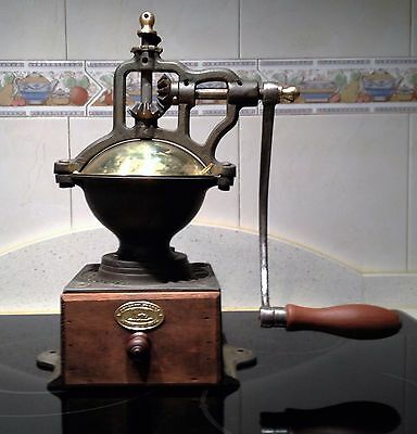 Antique Coffee Grinder . Molino de Cafe . Old coffee mill . Peugeot Freres A1