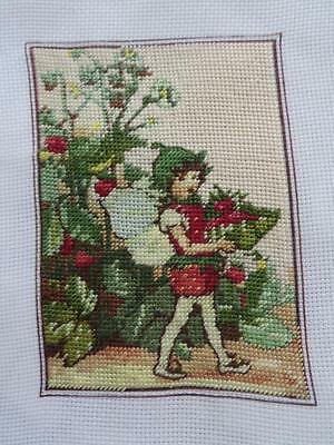 FREE POSTAGE - Vintage Finest Needlepoint Tapestry Fairy Completed