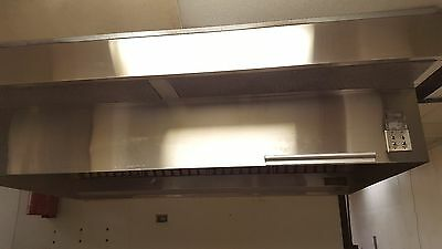 9 ft Stainless Steel Restaurant Hood System with Exhaust & Supply Fans