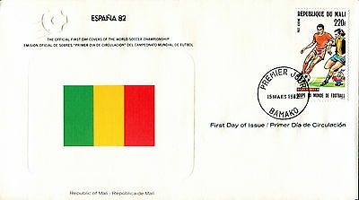 1982 Mali. Football World Cup First Day Cover. Royal Spain Football Federation