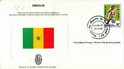 1982 Senegal. Football World Cup First Day Cover Royal Spain Football Federation