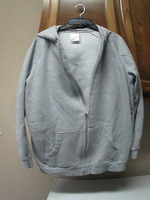 Kid Athlete youth large size 14-16  grey hooded zip up lined knit jacket