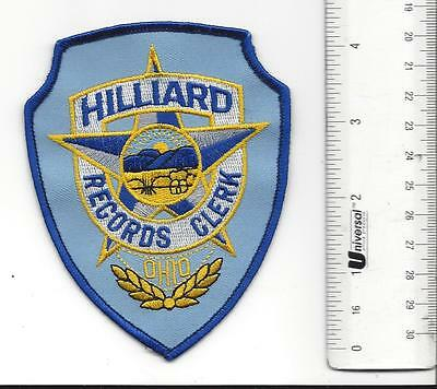 Hilliard OHIO Records Clerk Police Patch in great shape OH