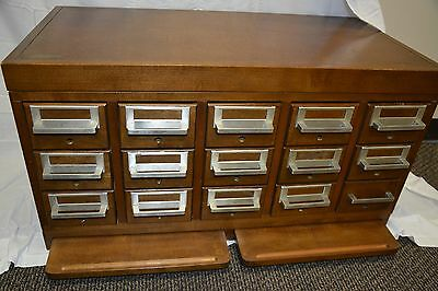 Vintage Card Catalog 15 Drawer Library ***LOCAL Pick UP 41018, Northern KY***