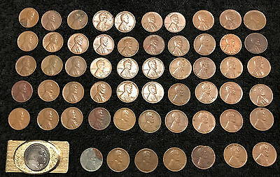 155 1909 to 1956 Wheat Penny Collection including 1943 penny