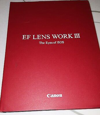 """Canon EF Lens Work III The eyes of EOS - Size = 4to - over 9¾"""" - 12"""" tall"""