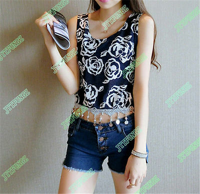 USA Fast Shipping New Women Vest Sleeveless Blouse Casual Tank Tops