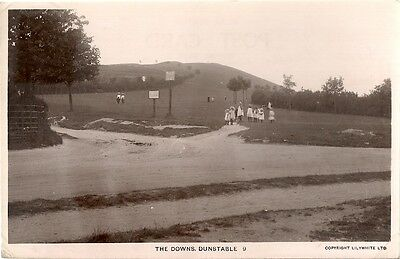 Superb Real Photo Postcard - The Downs - Dunstable - Bedfordshire 1915
