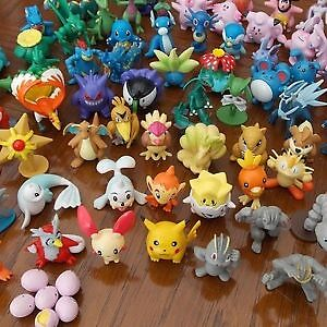 20 Pokemon Figures, New, UK Seller!! Cake Toppers, Party Bags, Stocking Fillers