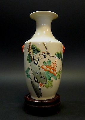 Antique A Chinese Famille Rose Porcelain Vase