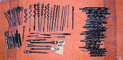 Vintage Drill Bit Lot. Auger, Expansion, Spade, Masonary, More.  14+LBS  100+ Pc