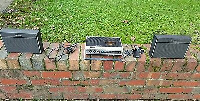 Vintage Sony TC-126 Stereo Cassette -Corder includes Ext Speakers and Microphone