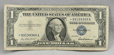 1957 $1 United States Silver Certificate STAR Note!