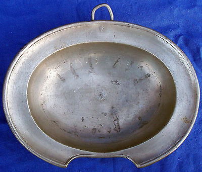 Rare 18th century hallmarked German (Ulm) pewter barber's bowl, circa 1785