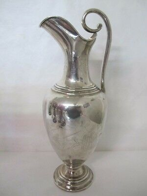 "A Danish Peter Hertz Sterling Pitcher Neoclassical Figures 14"" Tall 17 Troy Ounc"