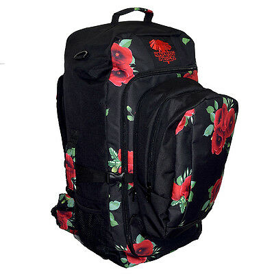 NEW Wild Poppies 65L Travel Pack with daypack Bag Luggage