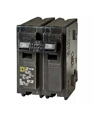 Square D Homeline 30 Amp Homeline Breaker Amp Pole Double Pole Circuit Breaker