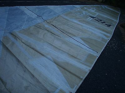 Kevlar racing mainsail 10mm rope luff 13.85 x 4.97m 4 battens included 3 reefs