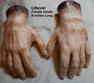 HALLOWEEN PROPS SEVERED HANDS Zombie DISPLAY Mask fx dead HORROR BODY PARTS