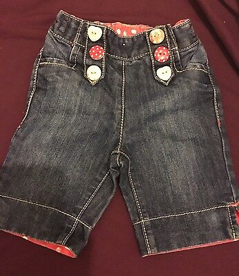 Baby Girls 6-9 Months Crop Jeans From Next