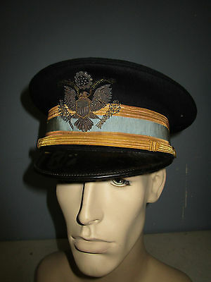 Us Army M1912 Infantry Officer Full Dress Hat Heavy Bullion Eagle Embroidery