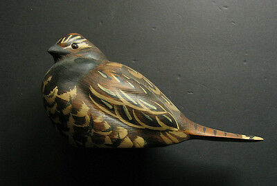 BIG SKY CARVERS  WOODEN GROUSE BIRD SIGNED BY ARTIST Sally McMa