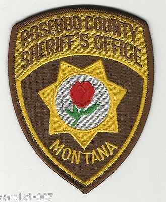NEW Rosebud  County Sheriff State of MONTANA MT Shoulder Patch