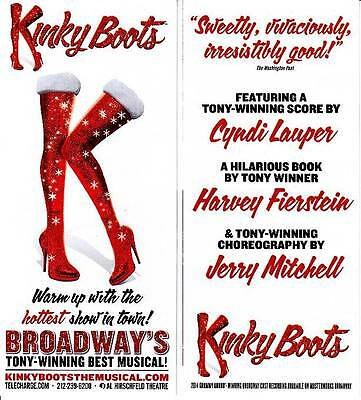 Kinky Boots Musical Ad Broadway 2014 Nyc New York City